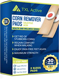 Corn Remover Pads, Remove Corns Fast, One Step Pads, Cushioning Protection Against Shoe Pressure, 30 Pads