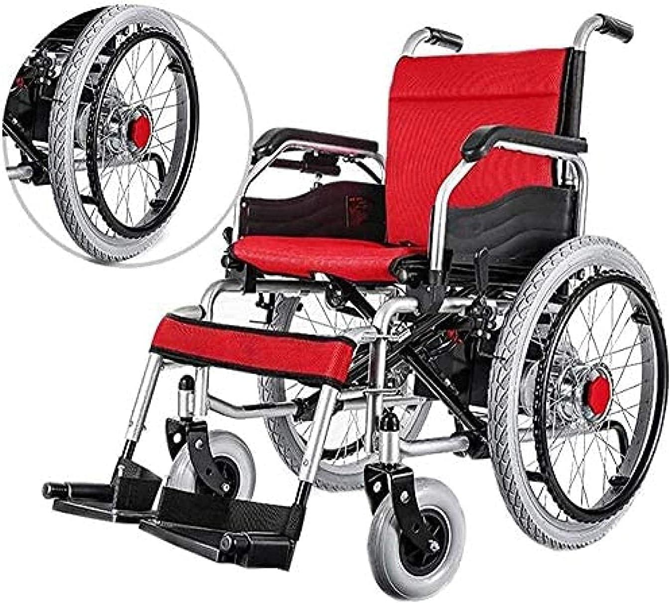 Sillas de Ruedas Eléctricas para Adultos Transporte Ligero Plegable Motorizado Diseño Plegable Ligero de Scooter Eléctrico con Joystick Inteligente de 360 °
