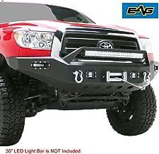 EAG Black Front Bumper with LED Lights Steel