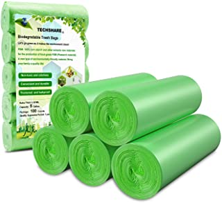 Biodegradable Trash Bags 4 - 6 Gallon, 100 Counts, Extra Thick Small Trash Bag Recycling Garbage Bags For K...