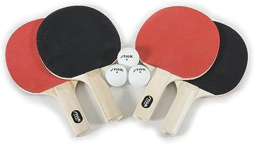 Raqueta de tenis de mesa Alpha Set 2/x, 3/x Ball, 1/x Red