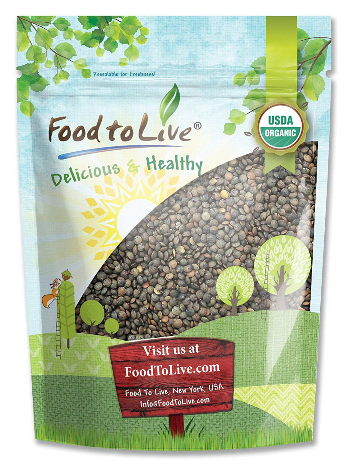 Organic French Green Lentils by Food Dry Whole Max 77% OFF N A surprise price is realized Live Beans to
