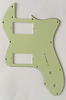 Electric Guitar Pickguard for Classic Series '72 Thinline Tele PAF Style (3 Ply Vintage Green)
