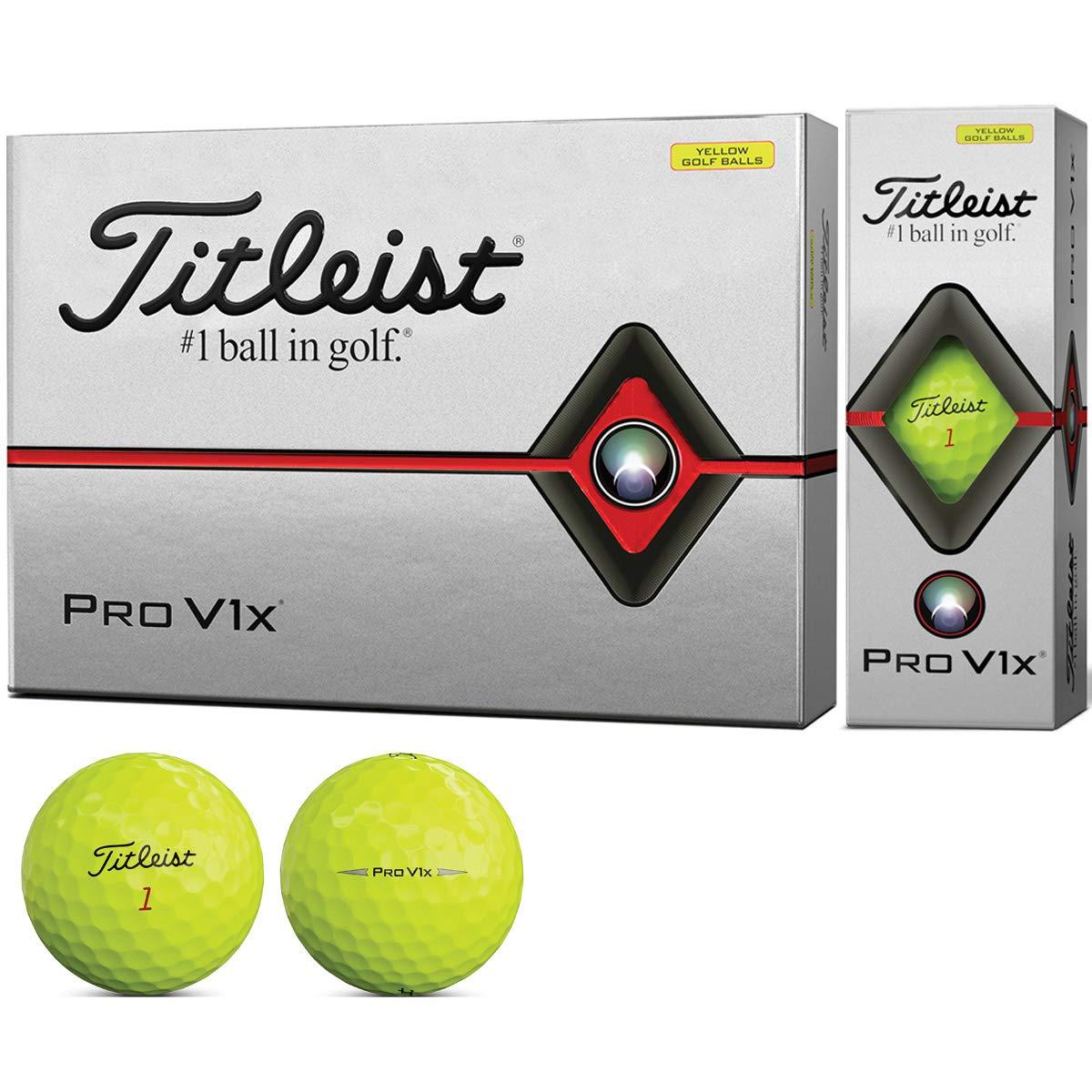 複製するアスリート地域タイトリスト(TITLEIST) ゴルフボール 2019 Pro V1X ローナンバー イエロー ユニセックス T2146S-J イエロー