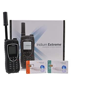 Iridium 9575 Extreme Satellite Phone with Prepaid and Postpaid SIM Cards