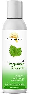 One Bottle 4 oz of Vegetable Glycerin USP VG Kosher VG 99.9% Pure Food Grade