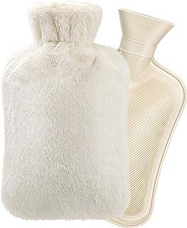2 L varmvattenflaska med fluffigt fodral, Homealexa barn varmvattenflaska med lock, bekväm, säker och hållbar värmehållnin...