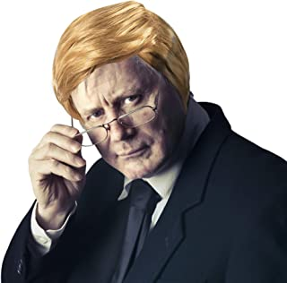 Donald Trump Costume Party Wig - Halloween Wig for Kids and Adults | Make America Great Again Hat | President Outfit for Party | Iconic Pompadour and Coif