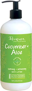 Renpure plant-based Beauty Cucumber & Aloe Soothing + Refreshing Body Lotion, 16 Fluid Oz