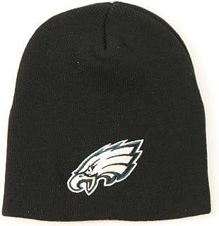 77a614bee79b7 Philadelphia Eagles Uncuffed Embroidered Logo Winter Knit Beanie Hat - Big  Logo Black