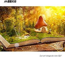 Libro sobre el mundo Mushroom House lienzo preimpreso Arte por pintura digital Tienda hotel familia decoración especial 40x50cm Sin marco