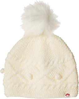 Soft Cable Knit Print Himalaya Hat with Faux Fur Puff Ball (Infant/Toddler/Little Kids/Big Kids)