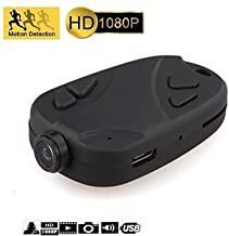 Keychain Camera 808 1080P Wide Angle 120 Degree Nanny Cam Motion Activated Portable Pocket DV