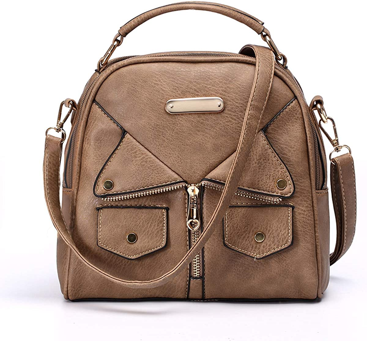 Women Double Zipper Handbag Great interest Pu Leather Fashion Ladies Shoulder B Super special price