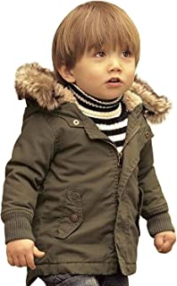 HUMMIJA Baby Boy Hooded Winter Warm Parka Jacket Kids Outerwear Coat
