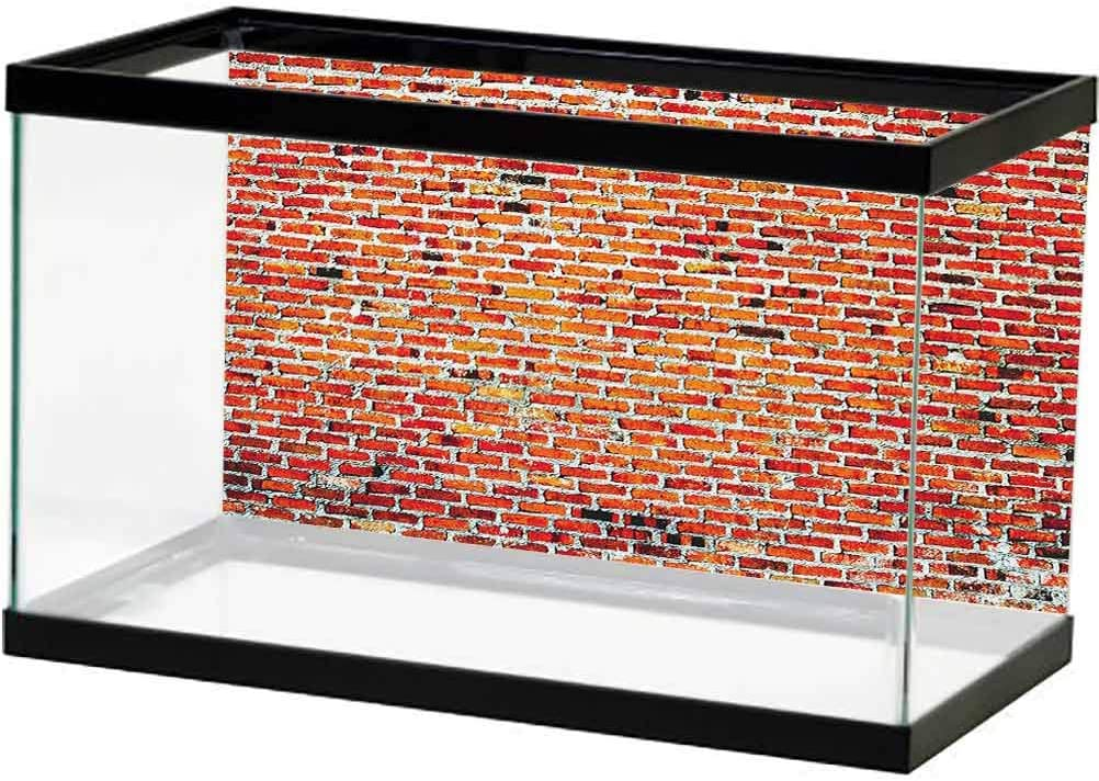 ScottDecor Rustic Sales for sale Home Decor Popular shop is the lowest price challenge Aquarium Background Brick with Wall