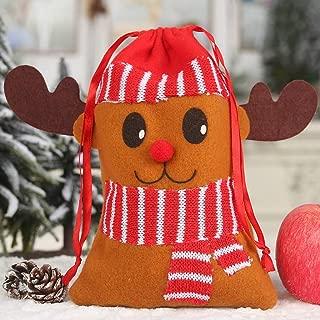 Weihnachtsschmuck, Chshe ™, Weihnachtsgeschenk-BonbontüTe Non-Woven Drawstring Candy Treat StrüMpfe Party Holder Pouch(C)