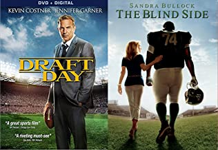 True Story The Blind Side DVD Football Movie + Draft Day Kevin Costner 2 disk Football Double Feature Set