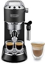 DeLonghi Dedica Pump Espresso coffee machine, 1300W, Black - EC685.BK