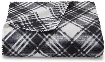 Cannon Fleece Plaid 50 x 60 Throw Black / White