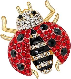 Dolity Spilla Pin in Lega Stilo Coccinella Ornamento Moda con Strass di Cristallo per Donne