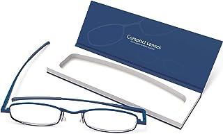 "IF Compact Lenses Readers Slim Flat-Folding Unisex Reading Glasses - Twilight,""+2.5"""""""
