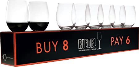 O Cabernet / Merlot Red Wine Set (Box of 8) by Riedel