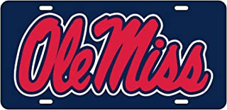Game Day Outfitters NCAA Mississippi Old Miss Rebels Elite Car Tag One Size Multicolor