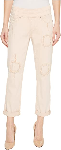 "25"" Stretch Twill Pull-On Boyfriend Pants in Camelia"