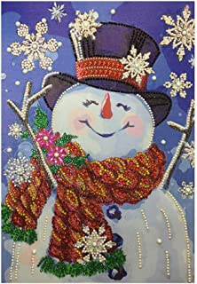 Shimigy Cute Snowman Special Shaped Diamond Embroidery Painting DIY 5D Cross Stitch Kits Arts Craft