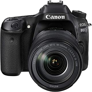 Canon EOS 80D 18-135mm IS USM Lens Kit 24.2 MP SLR Camera - Black