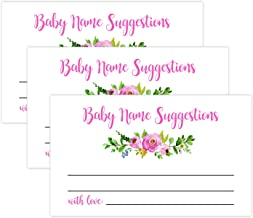 50 Blush Floral Baby Name Suggestion Cards, Baby Name Suggestions for Baby Shower, Printable Baby Shower Games, Pink Baby Games, Baby Names, Baby Name Cards.