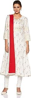 Biba Coral Cotton A Line Suit Set