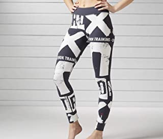 Reebok Womens Boldface Tight Leggings Multi Color