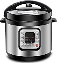 ZENY 6Qt 10-in-1 Multi-Use Pressure Cooker Programmable with Aluminium Alloy Pot, Rice..