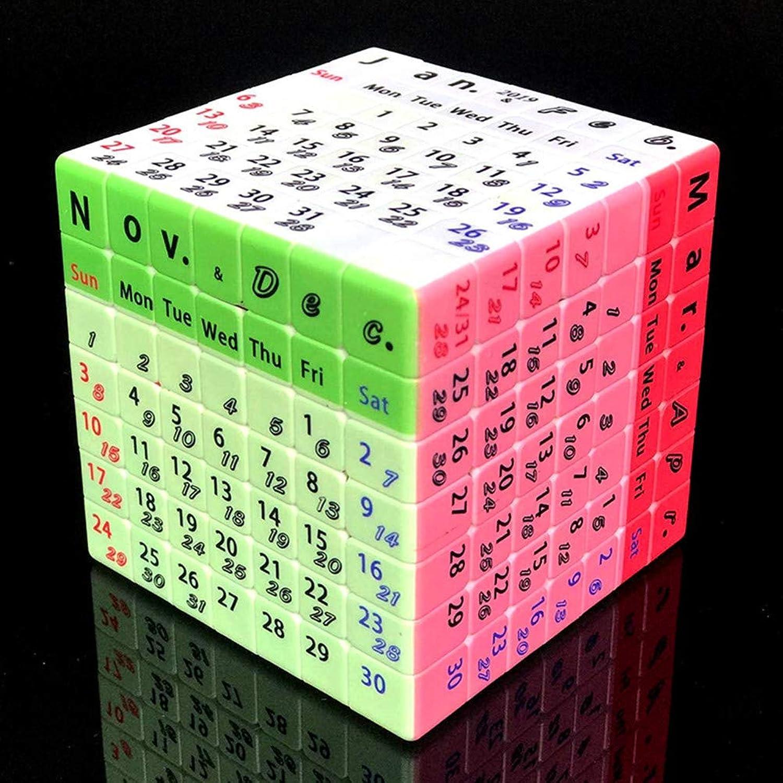 MESST 2019 novità Corsa di Sette Passi Cubo di Rubik, Stampa Personalizzata UV Sviluppo intellettuale, Calendario perpetuo Design Unico