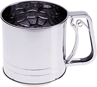 Prepworks by Progressive Triple-Screen Flour Sifter, Stainless Steel - 5 Cup Capacity