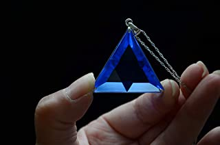 Blue Siberian Crystal Quartz Star of David Marcel Vogel Cut 1.45 Inch 925 Silver Sterling