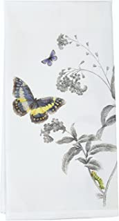 Montgomery Street Butterfly and Milkweed Flour Sack Dish Towel