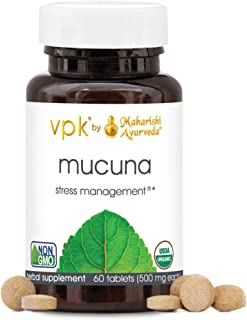 Organic Mucuna | 60 Herbal Tablets – 500 mg ea. | Nervous System Tonic | Promotes Relaxation & Healthy Response to Stress ...