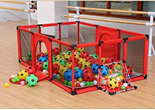 Indoor Baby Playpens Outdoor Games Fencing Children Play Fence Kids Activity Gear Environmental Protection Safety Play Yard Mat Ocean Ball 100 Football 8 180 120 62cm