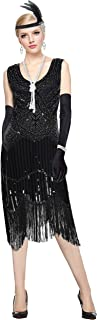 YENMILL 1920s Sequined Vintage Beaded Gatsby Flapper Evening Prom Roaring 20s Dress