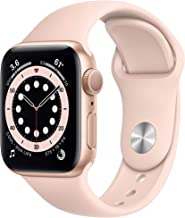 Apple Watch Series 6 (GPS, 40mm) - Gold Aluminum Case with Pink Sand Sport Band (Renewed)