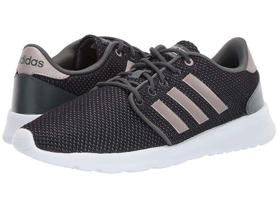 check out 452ad 098b7 adidas Cloudfoam QT Racer (Legend Ivy Platinum Metallic Core Black) Women s Running  Shoes