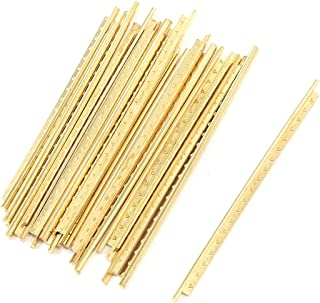 Geesatis 19 PCS Guitar Frets Wire Length 2.4 Inch Copper Brass Guitar Frets Wire Fingerboard for Strat Classical Acoustic Guitar Fret Wires Accessories