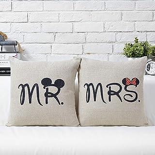 Cuscini Mr Mrs.Amazon It Mr Mrs Copricuscini E Federe Cuscini Decorativi E