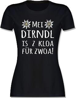 Shirtracer Oktoberfest & Wiesn Damen - MEI Dirndl is z kloa für zwoa! weiß - Tailliertes Tshirt für Damen und Frauen T-Shirt