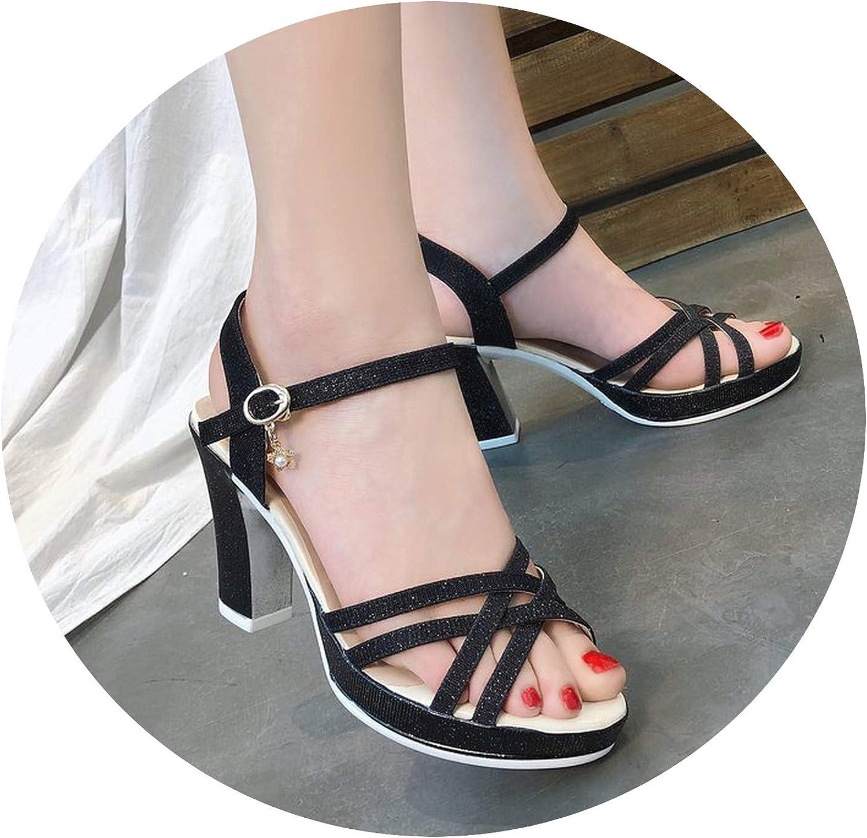 Peep Toe Basic Super High Heels Sandals Women Solid Ladies shoes Casual Sandals