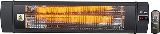 Karbon Heizstrahler | Terrassenstrahler | Heizgerät | Infrarotstrahler | Carbonstrahler | 2000 Watt | Display | Karbonlampe | Timer | Fernbedienung…