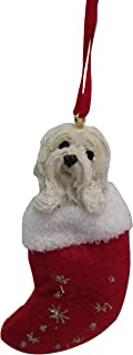 Havanese Christmas Stocking Ornament with